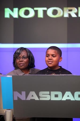 CJ WALLACE RINGS OPENING BELL FOR NASDAQ