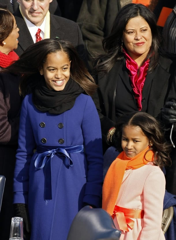 PHOTOS:FIRST DAUGHTERS MALIA AND SASHA OBAMA ON INAUGURATION DAY