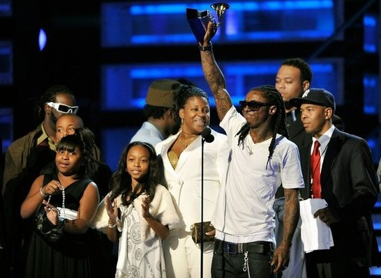 Lil Wayne And Family At Grammys More Pics With Jamie Foxx
