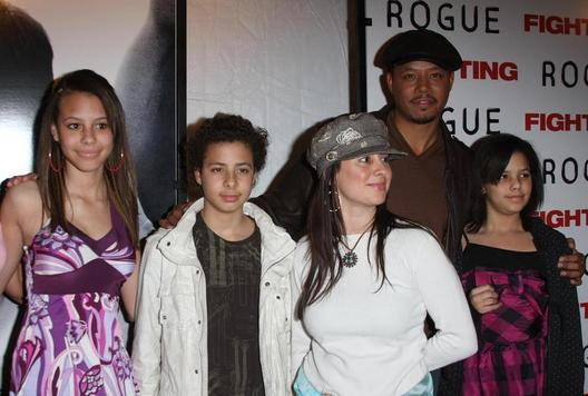 ACTOR TERRENCE HOWARD AND FAMILY AT FIGHTING PREMIERE