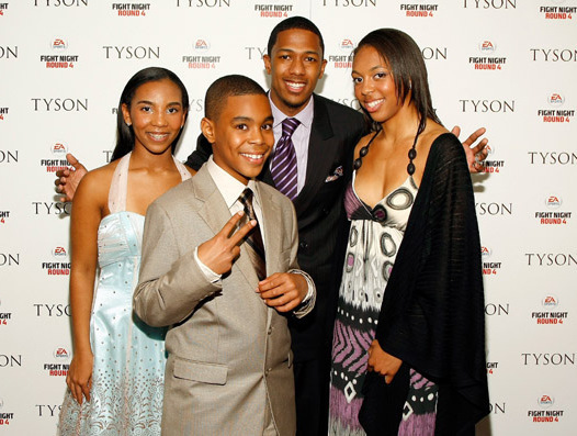 Mike Tyson And Daughters And Son Attend Premiere