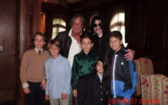 Michael Jackson (3rd R) poses with real estate developer Mohamed Hadid (3rd L), Hadid's children and Jackson's children Michael Joseph Jr. (L), Paris Michael Katherine (C) and Prince Michael II (2nd R) on November 27, 2008