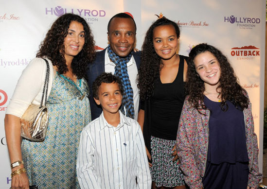 SUGAR RAY LEONARD, WIFE, AND KIDS ATTEND HOLLYROD EVENT