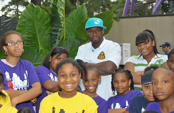 50 CENT BRINGS UNITY TO THE KIDS