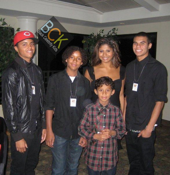 L to R: Donte, Jaffar, Genevieve, Randy Jr., Jermajesty