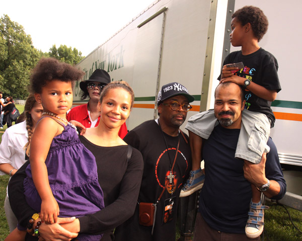 ACTOR JEFFREY WRIGHT AND FAMILY