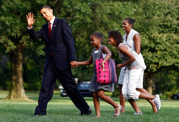 OBAMAS EXCITED TO SEE BO