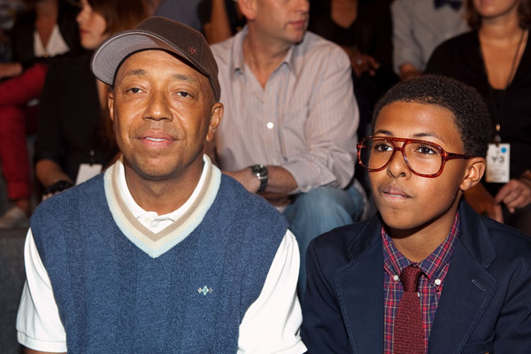 DIGGY SIMMONS AND UNCLE AT THE Y-3 FASHION SHOW