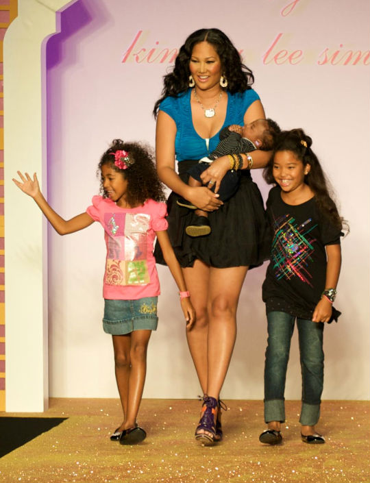 Kimora Walks The Runway With Her Kids
