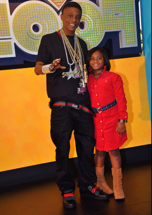 Rapper Lil Boosie And Daughter At The 2009 Hip Hop Awards Show