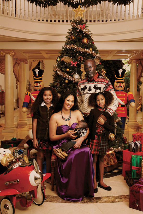 christmas with kimora lee simmons and familyvideo inside - Black Family Christmas Pictures