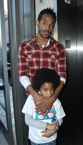 marlon wayans and son go out for some bookies milk
