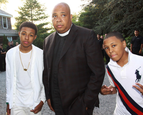 REV SIMMONS AND HIS SONS AT THE ART FOR LIFE BENEFIT GALA