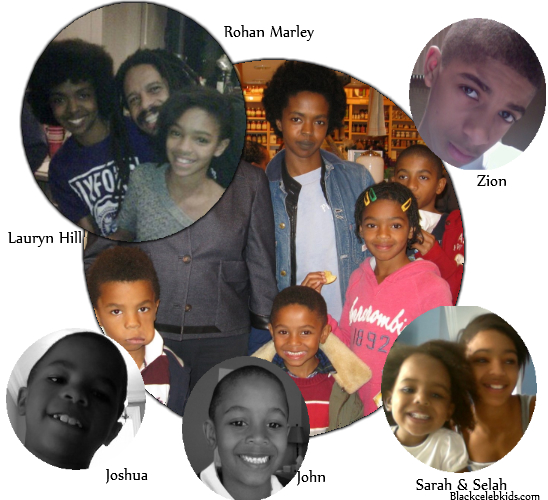 ROHAN MARLEY AND LAURYN HILL'S FAMILY TREE