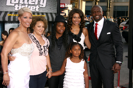 Terry Crews And Family At Lottery Ticket Premiere
