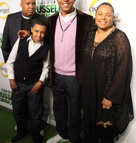 Rev Run, Russy Simmons, Russell Simmons, and Justine Simmons.
