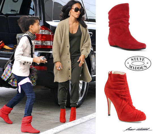 MOMMYampME FASHION WILLOW AND JADA WEAR RED ANKLE BOOTS