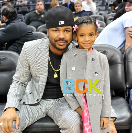 SPOTTED: THE DREAM AND DAUGHTER AT THE ATLANTA HAWKS GAME