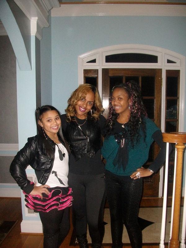 Members of the OMG Girlz, sisters Bahja & Lourdes