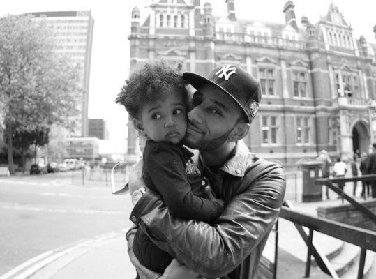 SWIZZ BEATZ + DAUGHTER= HAPPY DAD