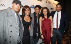 "(L-R) ""The Game"" castmembers Coby Bell, Wendy Raquel Robinson, Pooch Hall, Tia Mowry, and Hosea Chanchez attend BET's ""The Game"" cast meet & greet at the Tribeca Grand Hotel on January 10, 2011 in New York City."