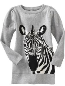 Zebra Graphic Sweater Dress-$29.99