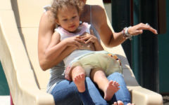 Halle and Nahla Hit the Park for Some Fun Together
