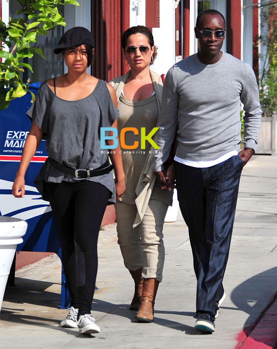 Don Cheadle And Family Out And About In Brentwood - Zimbio |Don Cheadle Family 2014