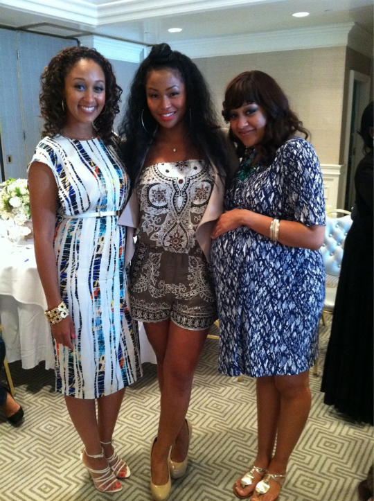 Tia with sister Tamera and friend Tae Heckward