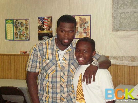 50 CENT AND HIS MINI ME