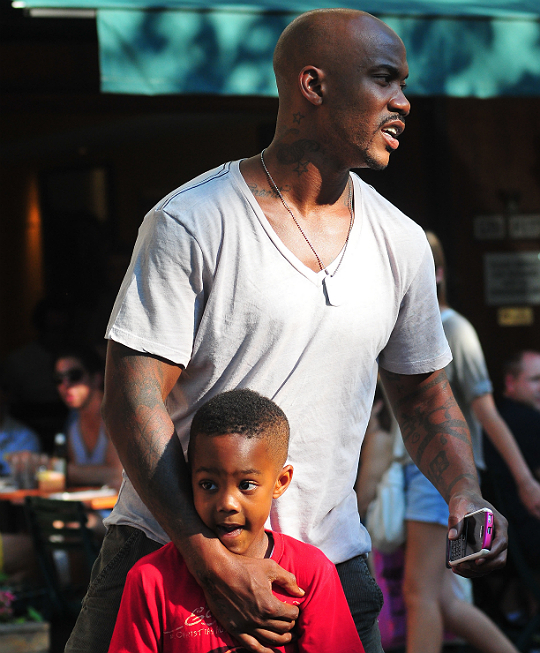 OUT AND ABOUT: STEPHON MARBURY AND SON
