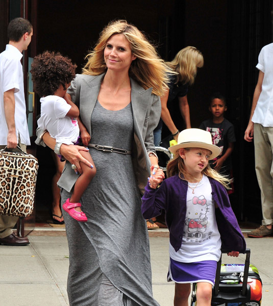 Heidi Klum S Handsome Sons Henry And Johan Are All Grown: HEIDI KLUM: MY YOUNGEST KIDS' HAIR 'REQUIRES A DIFFERENT