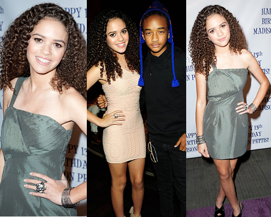 MADISON PETTIS CELEBRATES HER 13TH BIRTHDAY WITH JADEN ...