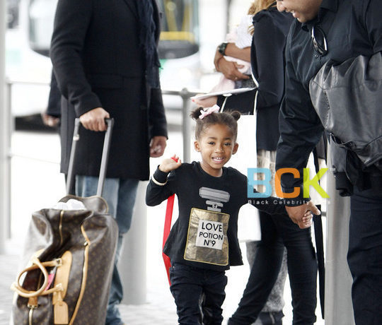 Mel B Arriving At Perth Domestic Airport With Family (USA ONLY)