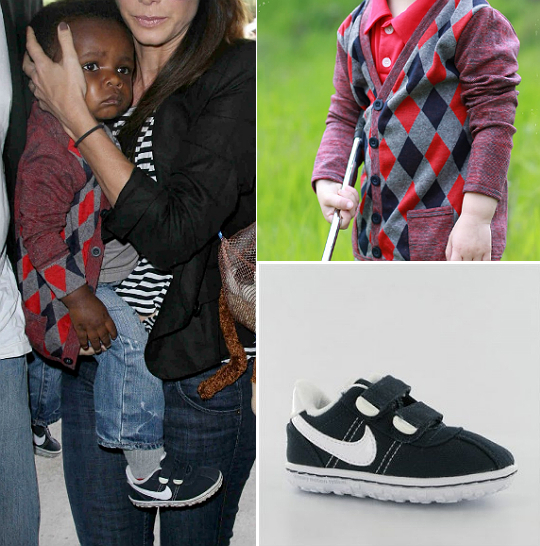 Cardigan Cutie! Find out what Louis Bullock wore on his recent outing with  mom Sandra Bullock. - LOUIS BULLOCK IS A CARDIGAN CUTIE