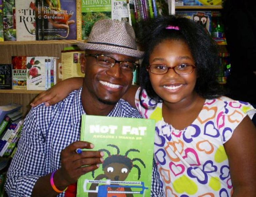 LaNiyah with actor Taye Diggs