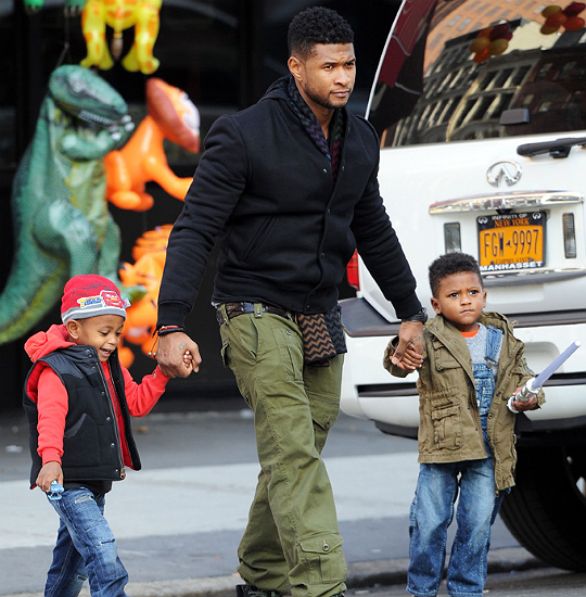 Pictures Of Usher And His Kids