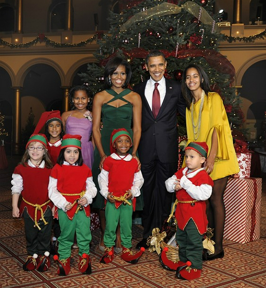 the obama family celebrated christmas in washington at the 30th annual concert on sunday december 11 2011 president barack obama first lady michelle - Black Family Christmas Pictures
