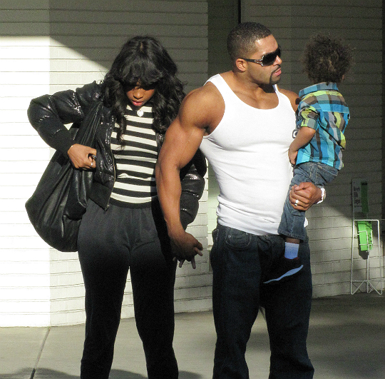 SPOTTED: JENNIFER HUDSON, DAVID OTUNGA, AND SON