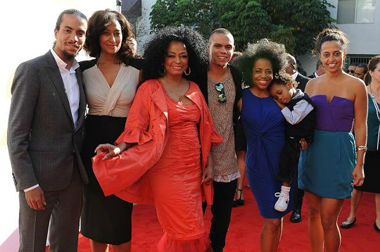 Diana Ross Celebrates With Children And Grandchild