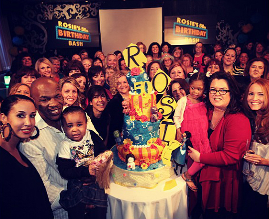 MIKE TYSON AND FAMILY CELEBRATE WITH ROSIE O'DONNELL