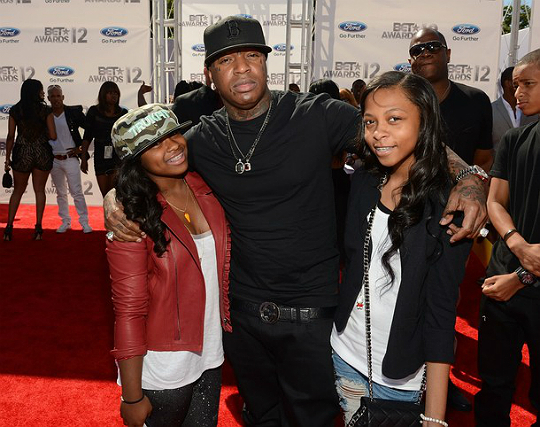 birdman and family attend bet awards