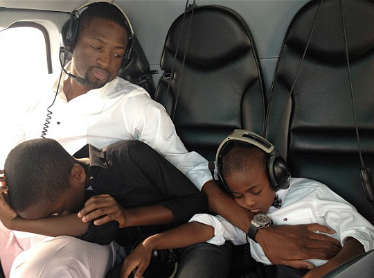 DWYANE WADE AND HIS JET SETTERS