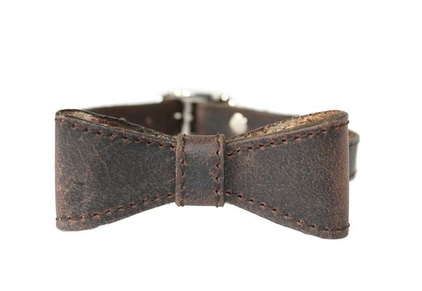 bow-tie-dog-collar-the-brooklyn-bakery-brown-leather-zoe-pet-supply