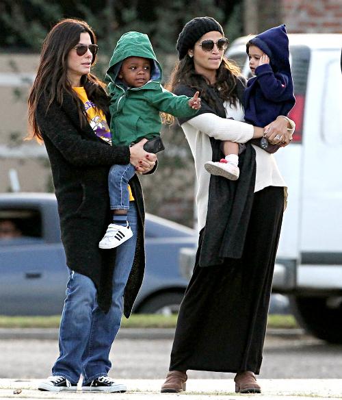 SPOTTED: THE WHITFIELDS, SANDRA BULLOCK, ALICIA KEYS AND ... Sandra Bullock's Son