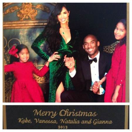 KOBE AND FAMILY GET IN THE HOLIDAY SPIRIT