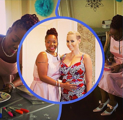 """Amber and her mother-in-law Katie """"Peachie"""" Wimbush,"""