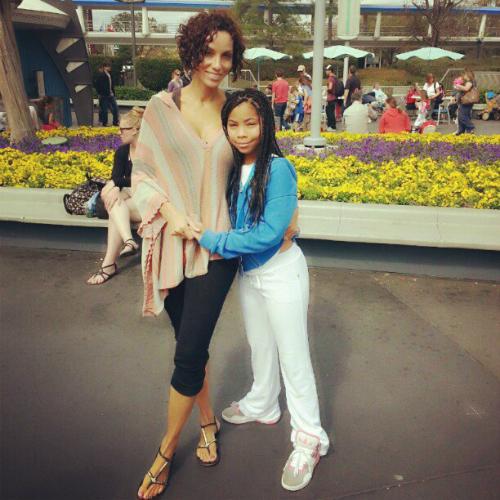 Bella with mom Nicole Murphy.