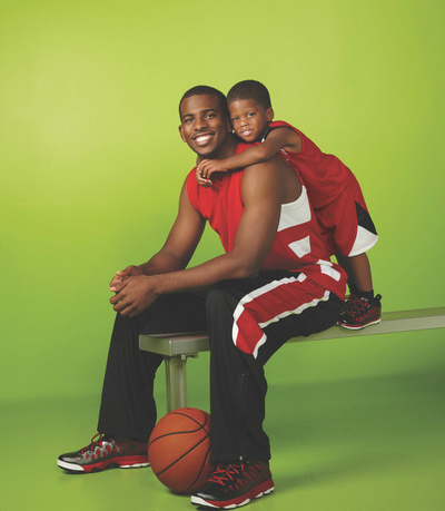 chris paul and son do avon photo shoot