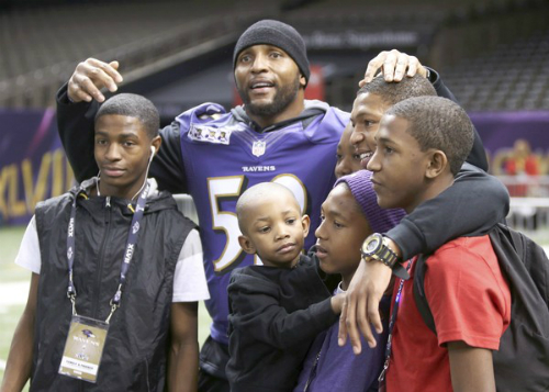 Ray Lewis with Single